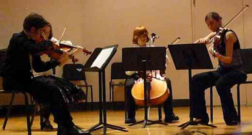 String quartet at Suzuki Music Columbus