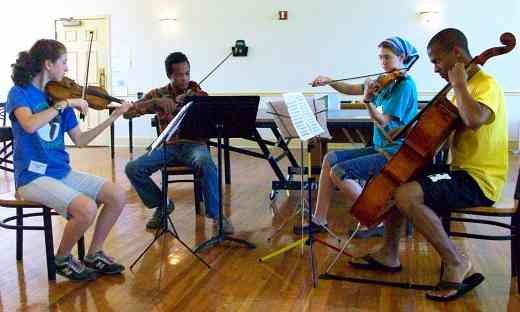String quartet at Virginia Suzuki Institute