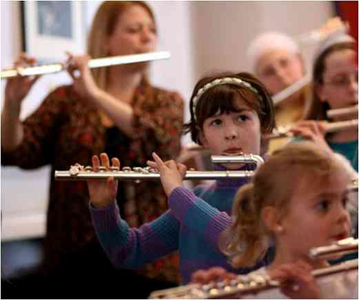 Flute group class at Suzuki in the Berkshires