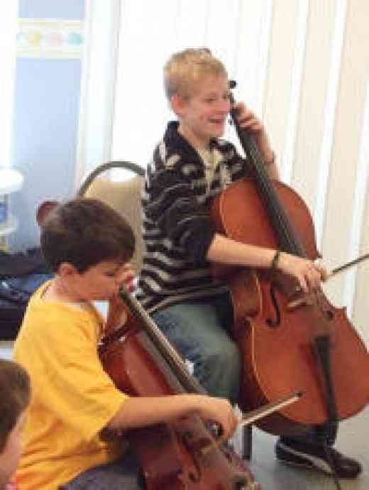 Cello students at Virginia Suzuki Institute