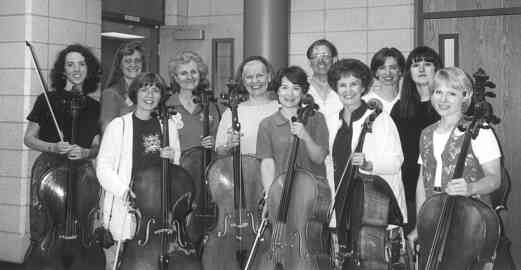 Cello teacher training participants