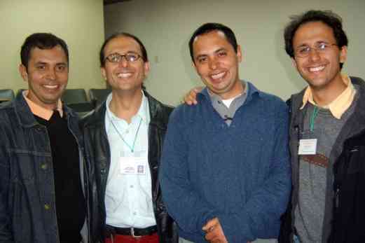 Colombian violin teachers: two sets of twins
