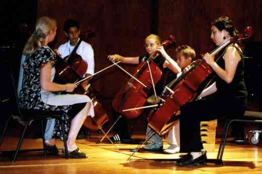Cello class with Carol Waldvogel