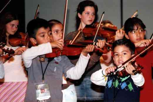 Violinists at the festival