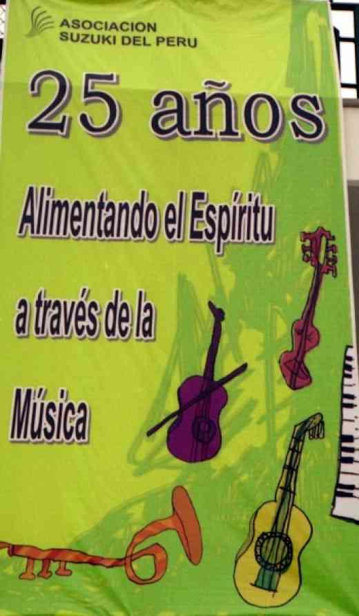 Peru 25 years poster