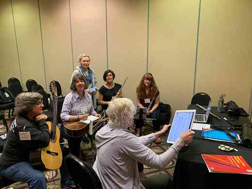 Flute, recorder and guitar collaboration—multi-level groups session