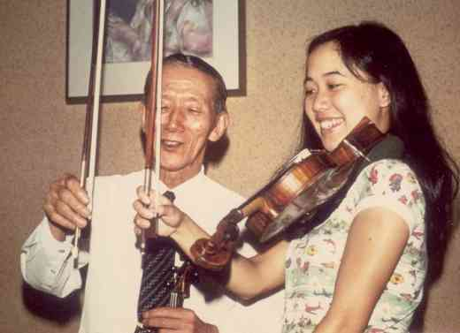 Cathryn Lee and Dr. Shinichi Suzuki, Matsumoto, 1975