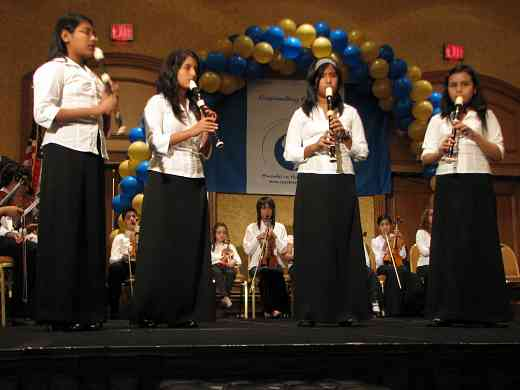Recorder students perform with the Latin American Suzuki Ensemble at the 2008 SAA Conference