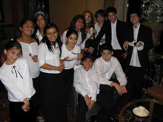 Latin American Suzuki ensemble students relaxing after their performance at the 2008 SAA Conference