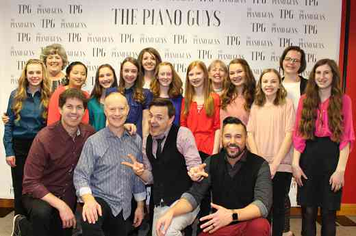 Piano Guys includes Suzuki Strings group