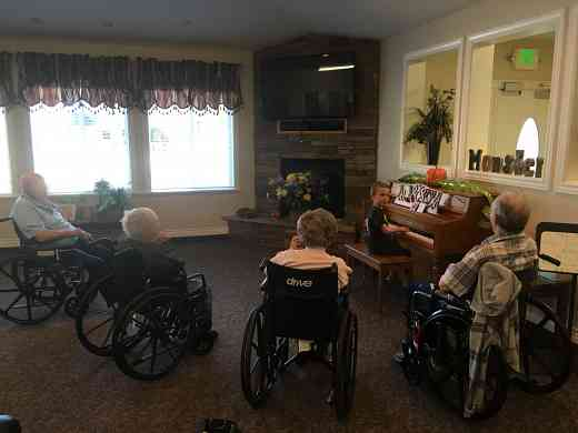 Playing piano for elderly on hospice
