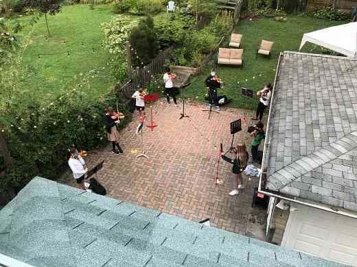 OPSA Suzuki group class outside