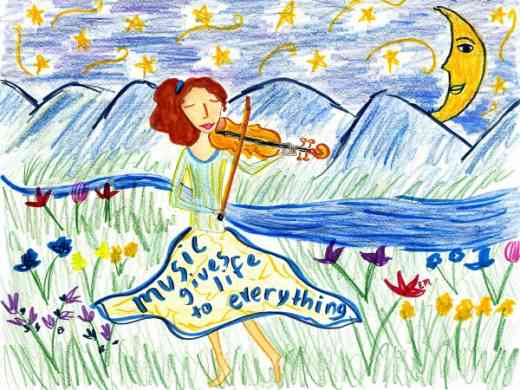 2008 Minijournal cover contest winner: Music gives life to everything.