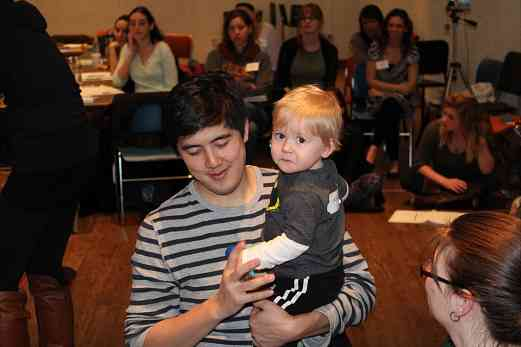 Daniel Gee in Suzuki Early Childhood Education Baby Class in Austin, TX, January 2012