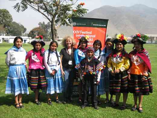 Piano students from Huancavelica, Peru