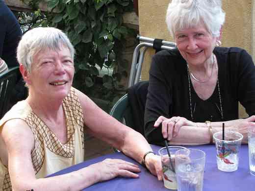 Daphne Hughes and Gail Lange at the 2011 Leadership Retreat