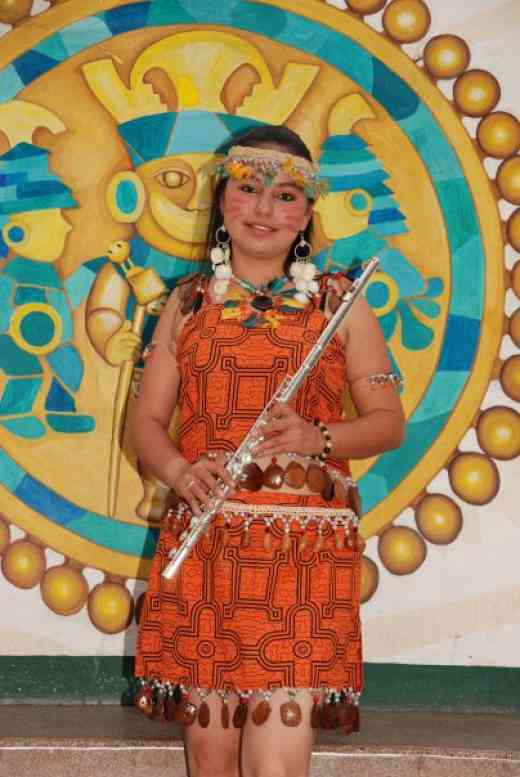 Scarlett Lozano Urrea representing the jungle city of Iquitos at the 2010 SAA Conference