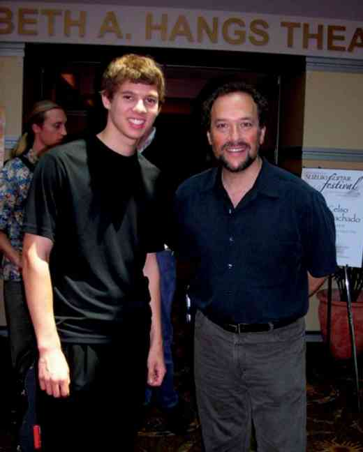 William Kanengiser with student Cory at the 2008 International Suzuki Guitar Festival