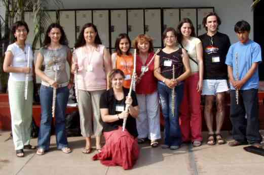Suzuki flute book 1 class in Lima with Kelly Williamson