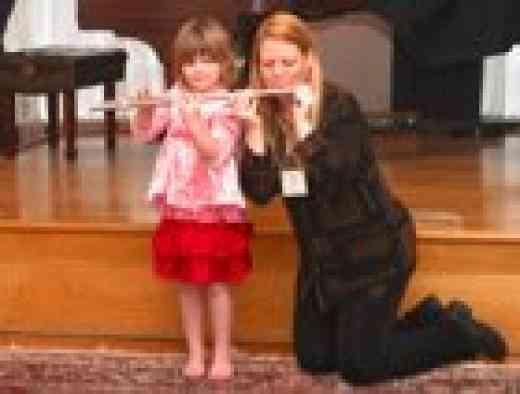 Flute Student and Teacher