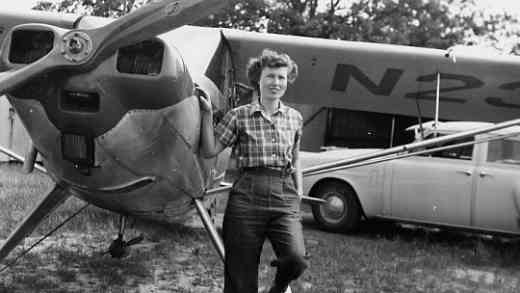 Gwen Runyon with airplane
