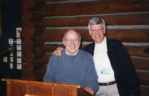 John Kendall and Bill Starr at the 1999 Leadership Retreat