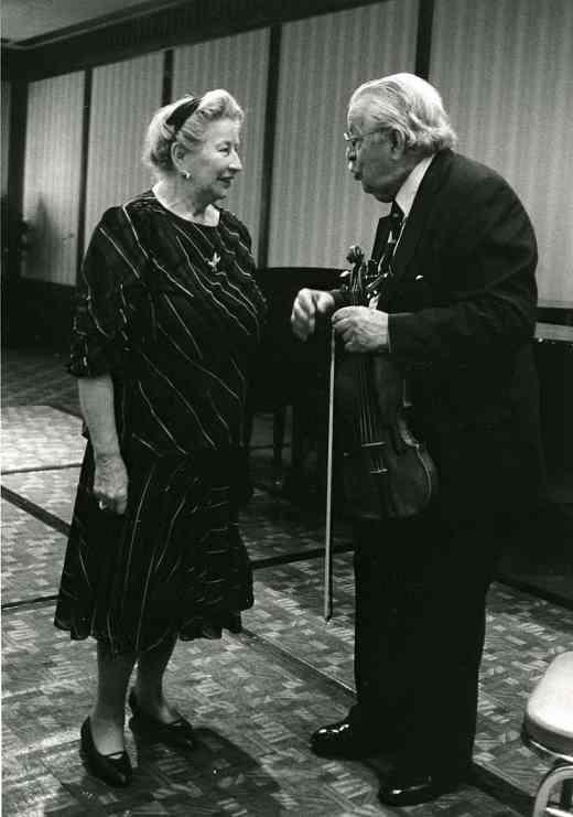 Waltraud Suzuki and Josef Gingold