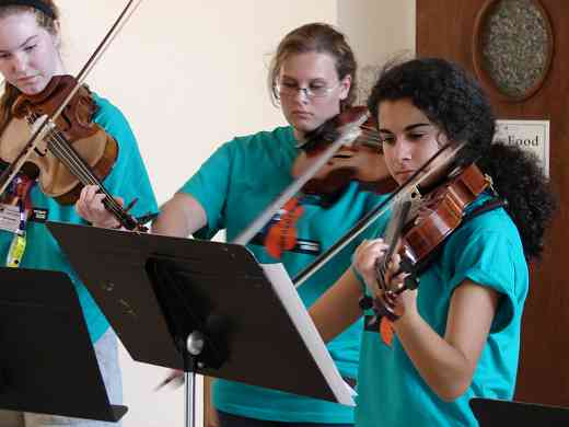 Viola group class at South Carolina Suzuki Institute