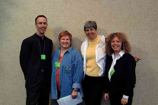 Caroline Fraser and friends at the 2001 SAA Leadership Retreat.