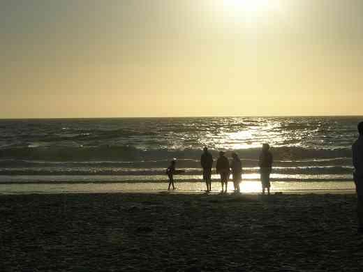 Sunset on the beach at the 2005 SAA Leadership Retreat