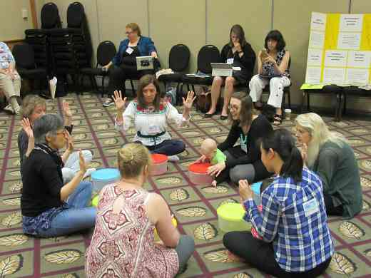 SECE teachers conduct a Baby Toddler Class at the Retreat