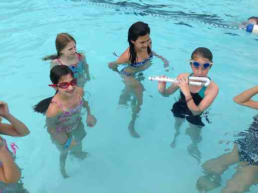Water-proof flute at FluteStars Summer Camp