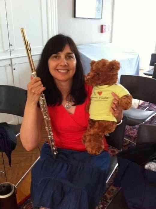 Benson the Suzuki Flute Bear at the Boston Suzuki Institute