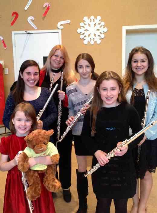 Benson the Suzuki Flute Bear visits Greenwich Suzuki Academy