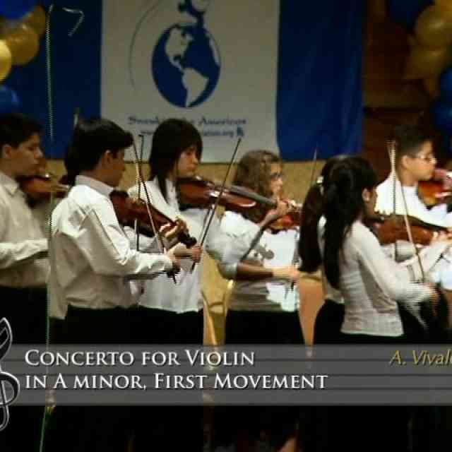 Concerto for Violin in a minor 1st mvt