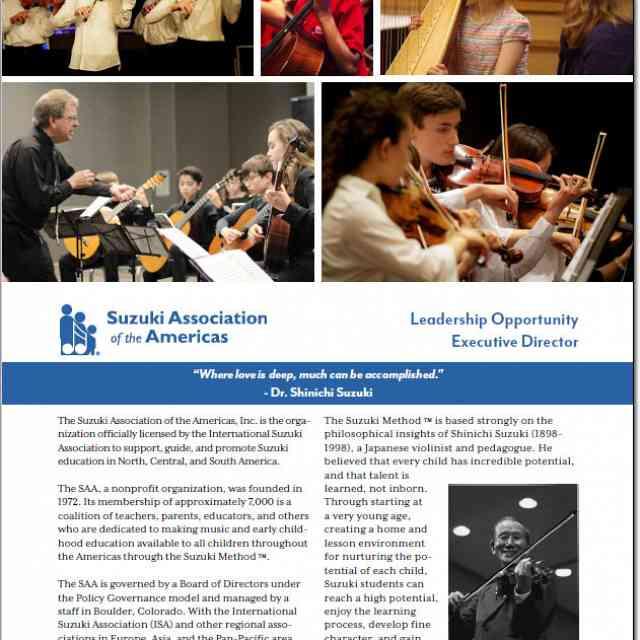 SAA Leadership Opportunity  Executive Director