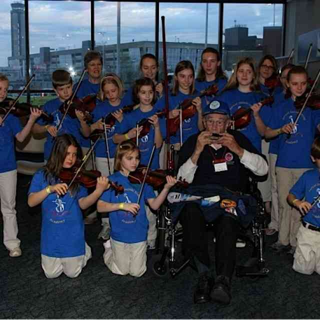 A Special Send Off for WWII Veterans Barcel Suzuki String Academy Performs for Honor Flights