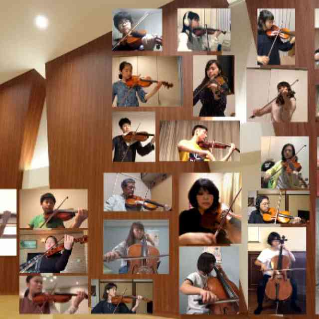 Concerto for Two Violins in D minor BWV1043 played remotely by Japanese Suzuki children