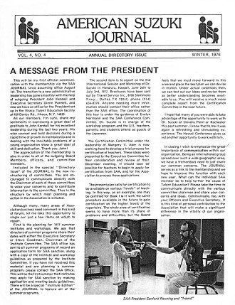 American Suzuki Journal 4.4