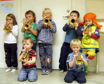 Suzuki Trumpet Students Photo courtesy of European Suzuki Association