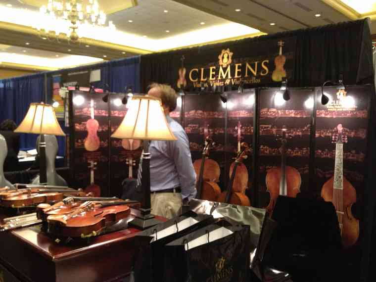 Clemens Violins exhibit booth at the 2012 Conference