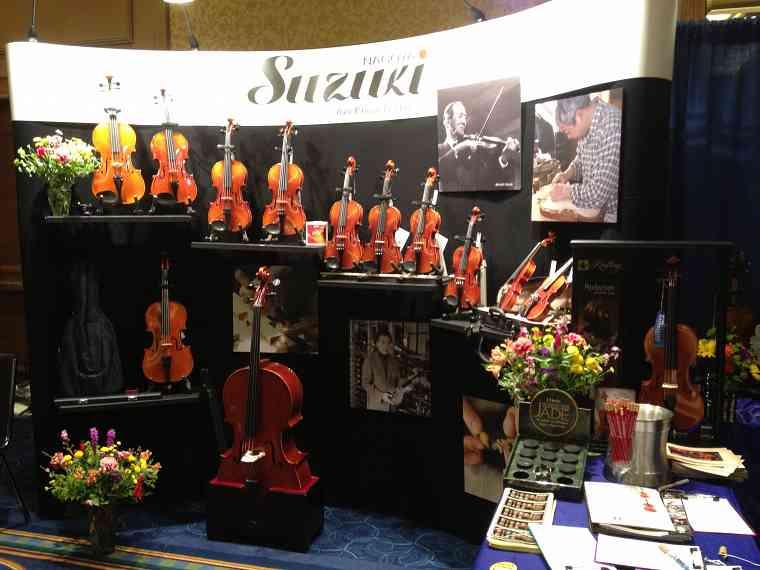 Nagoya Suzuki Violin exhibit booth at the 2012 Conference