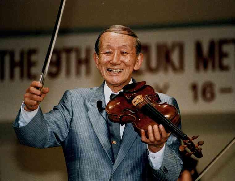 Dr. Shinichi Suzuki and violin