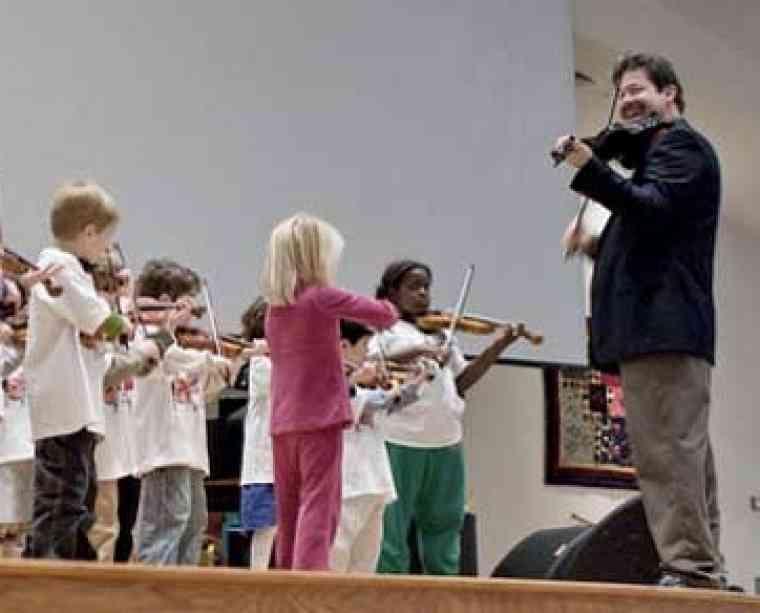 Violin group at Suzuki Institute at PhoenixPhest! Grande
