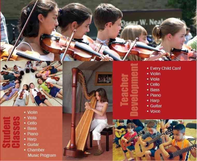 Violin students at New Mexico Suzuki Institute