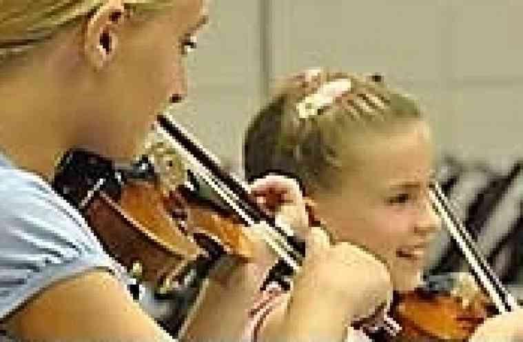 Violin students at Suzuki Institute at PhoenixPhest! Grande