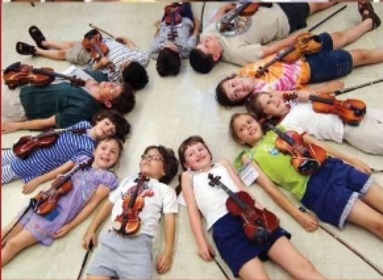 Violin students  at American Suzuki Institute