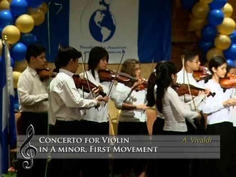 Concerto for Violin in a minor, 1st mvt