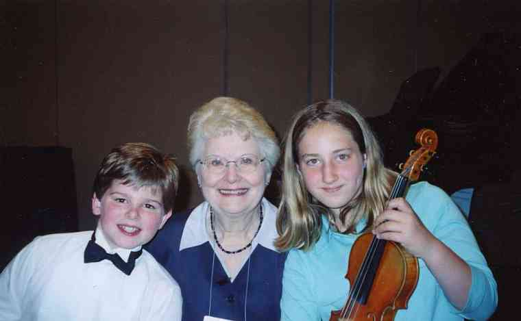 Violin Masterclass at the 2004 Conference