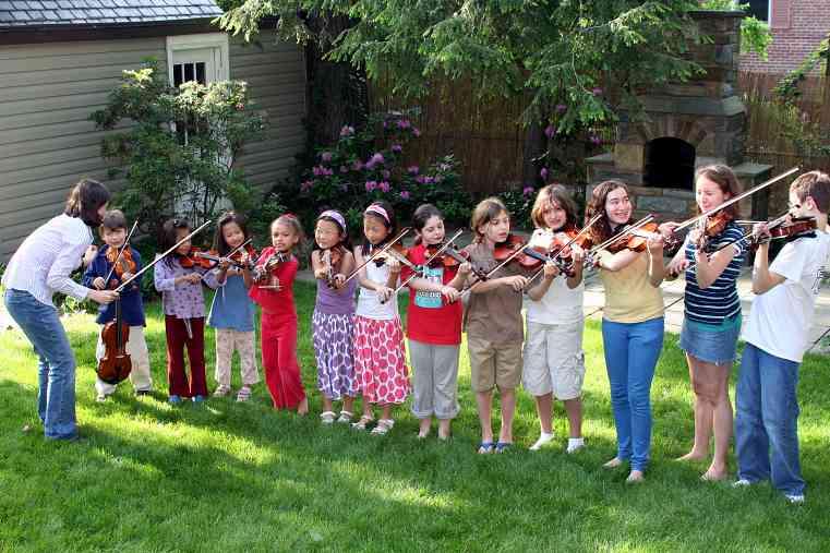 Violin group class